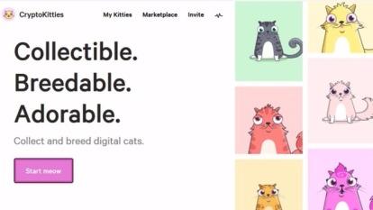 以太幣遊戲「CryptoKitties」11月28日推出大受歡迎,價格最高一隻貓炒至11.8萬美元。 (圖取材自網路)