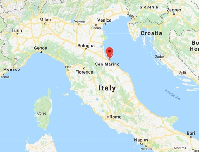 Rimini 位置圖 / 圖:谷歌