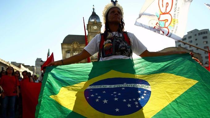 巴西央行調降基準利率到7%,為1986年以來最低值。(圖:AFP)