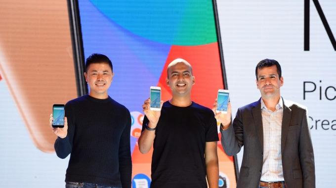 小米今年9月在印度發表Mi A1手機。(圖:AFP)