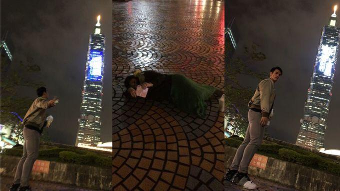 日職/陽岱鋼想和101合照轉頭老婆竟躺在地上