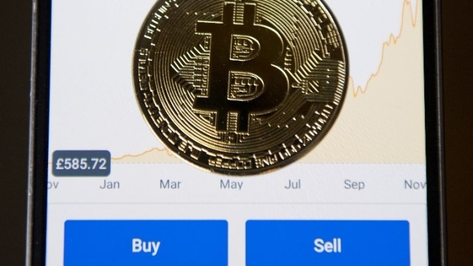 Coinbase App介面 (圖:AFP)