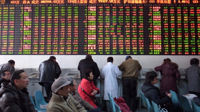 回檔整理,大中華股市買點浮現。(圖:AFP)