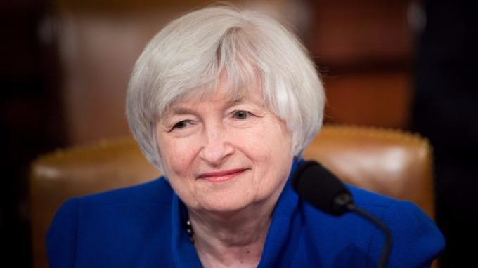 Fed主席葉倫任內最後一次主持議息記者會,外界關注她會否為未來貨幣政策作出暗示。 (圖:AFP)