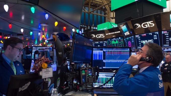 圖:AFP  美國股市週三收高 但削減漲幅