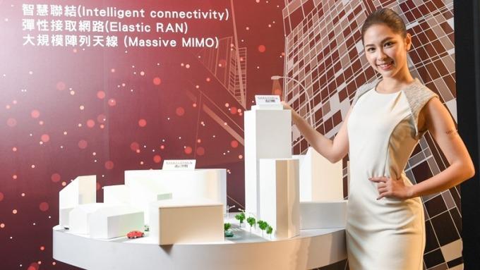 遠傳藉 5G 訊號情境城市模型說明 5G 先進無線技術及運作模式。(圖:遠傳提供)