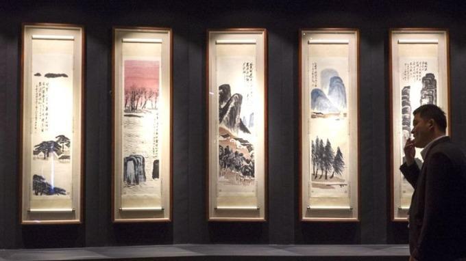 齊白石《山水十二屏》9.3億人民幣拍出 全球最貴中國藝術品