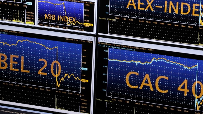圖:AFP  歐洲股市週三走低