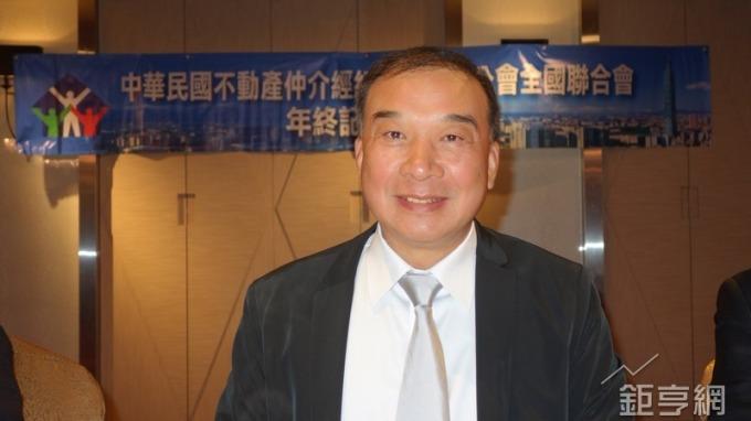 中華民國不動產仲介公會全聯會理事長林正雄。(鉅亨網記者張欽發攝)