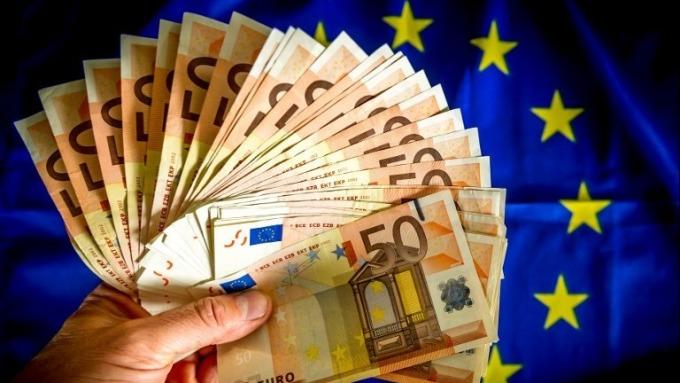 歐元50元鈔票 (圖:AFP)