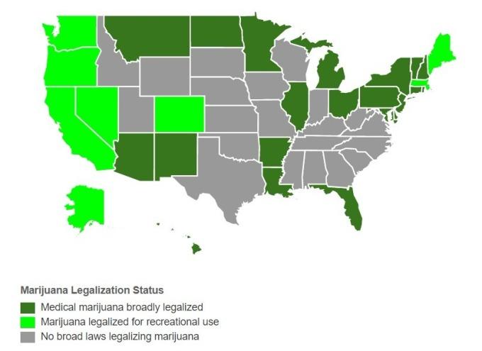 大麻合法州 / 圖:Governing