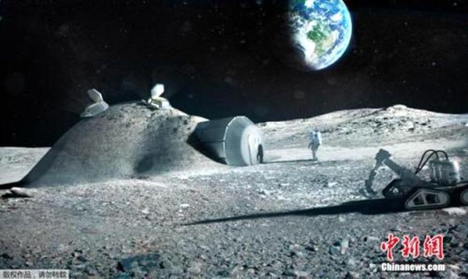 歐洲航天局發佈的3D打印月球基地效果圖。 (圖:中新網)