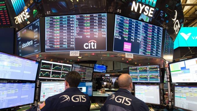 圖:AFP  美國股市週二表現亮麗