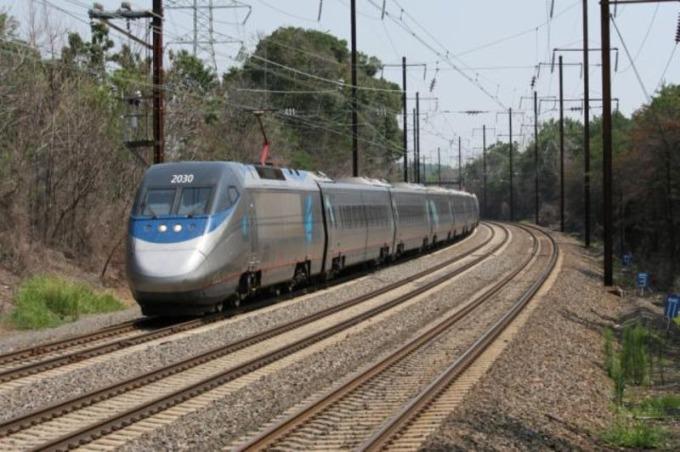 美國 Acela  列車 / 圖:彭博