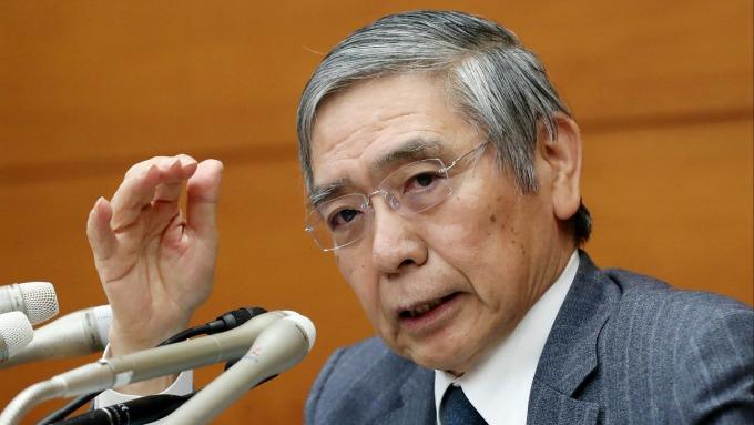 日本央行總裁黑田東彥。(圖:AFP)