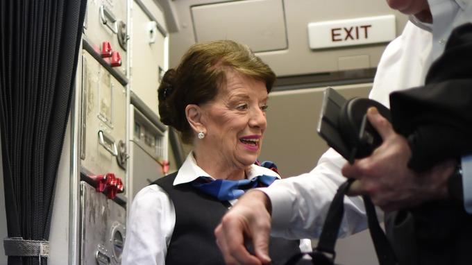 全球最老現役空姐 Bette Nash (82歲) / 圖:afp