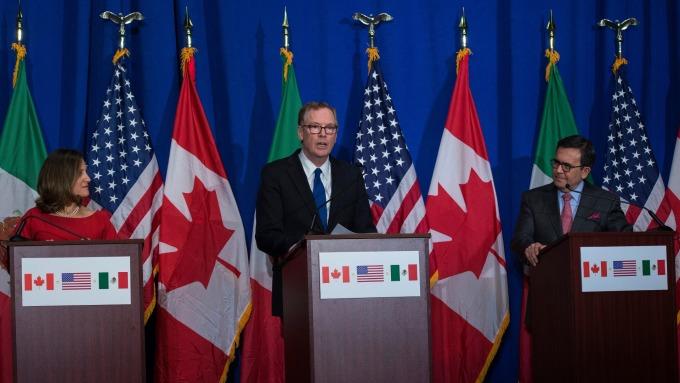 加拿大指越來越相信美國會退出NAFTA。 (圖:AFP)