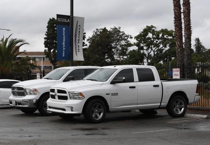 飛雅特克萊斯勒在墨西哥 Saltillo 廠生產的 Ram 重型皮卡中,約有 90% 在美國或加拿大銷售      (圖:AFP)