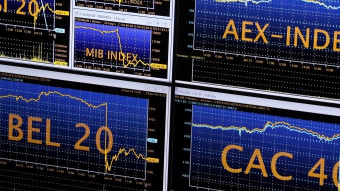 圖:AFP  歐洲股市週一下跌