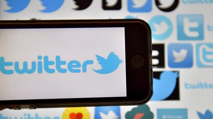 圖:AFP  推特股價大漲逾20%