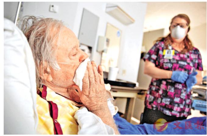 美國流感或相關病症死亡者一周逾4000人。 (圖:香港文匯報)