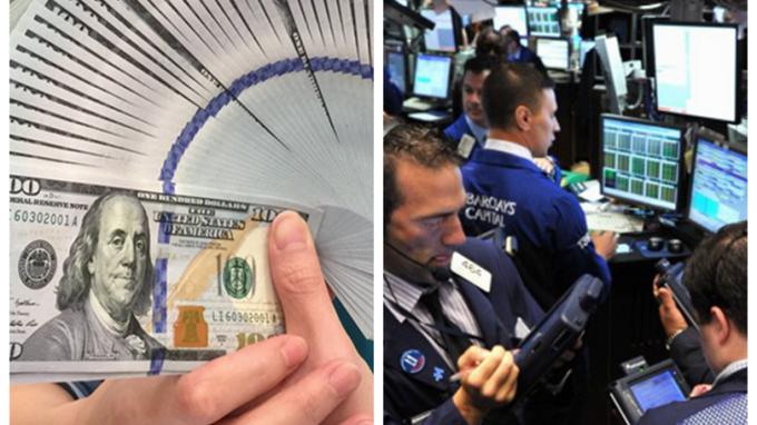 川普今晚公佈基建投資計劃,美元、美股嚴陣以待。 (圖:AFP)