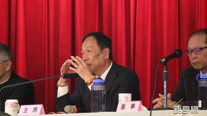 鴻海董事長郭台銘也預期今年是5G標準制定元年。(鉅亨網記者李宜儒攝)