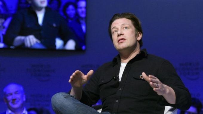 2017年1月18日,Jamie Oliver出席達沃斯世界經濟論壇會議。 (圖:AFP)
