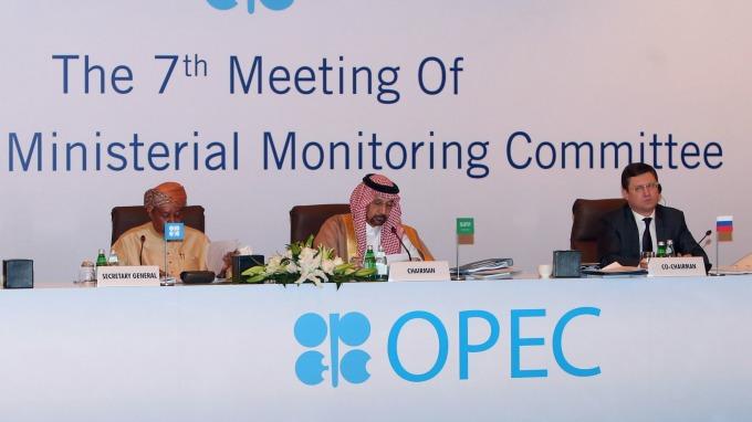 OPEC秘書長、沙烏地能源部長和俄羅斯能源部長 (圖:AFP)