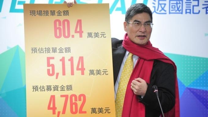 科技部長陳良基宣布新創團隊參展CES成果。(圖:科技部提供)