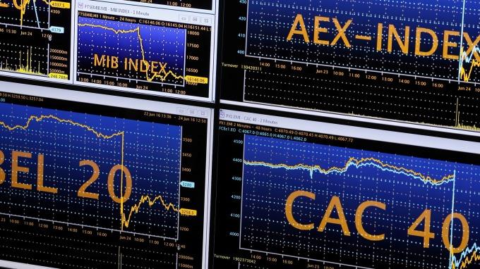 圖:AFP  歐洲股市週三強勢收高