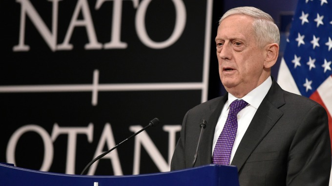 美國國防部長詹姆斯·馬蒂斯(James Mattis)。(圖:AFP)