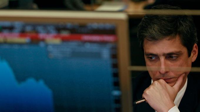 圖:AFP  美國股市週二大幅下跌