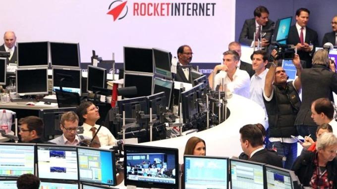 火箭互聯網2014年成功在德國法蘭克福上市。 (圖:AFP)