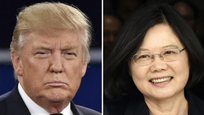 川普簽署《台灣旅行法》後,他或可以和蔡英文見面。 (圖:AFP)