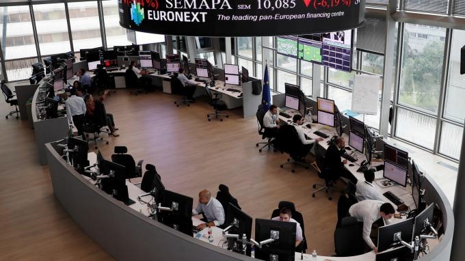 圖:AFP  歐洲股市週二小幅收高