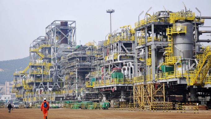 中國石油對外依存度屢創新高。(圖:AFP)