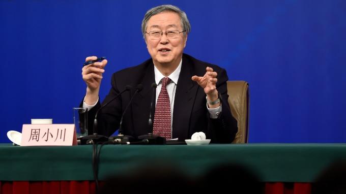中國人行行長周小川。(圖:AFP)