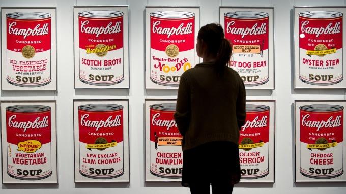 Campbell濃湯罐頭只用了2.6美分的鋼材。(圖:AFP)