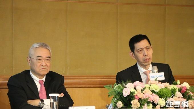 中磊董事長王伯元(左)與總經理王煒。(鉅亨網記者李宜儒攝)