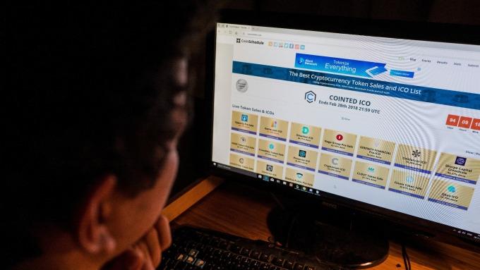 加密貨幣話題不斷。(圖:AFP)