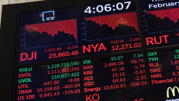 2月份美股面臨修正(圖:AFP)