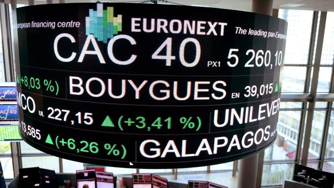 週二歐股盤前,主要指數期貨走揚。(圖:AFP)