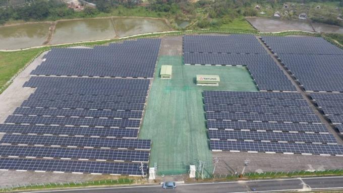 大同搶進掩埋場建置太陽光電系統。(圖:大同提供)