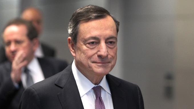 歐洲央行 (ECB) 總裁德拉吉。(圖:AFP)
