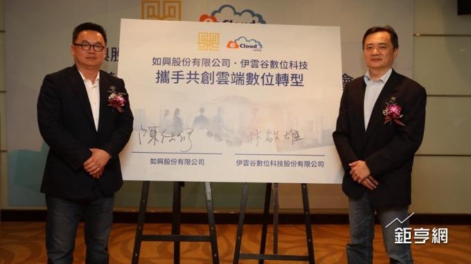 如興董事長陳仕修(左)。(鉅亨網記者李宜儒攝)