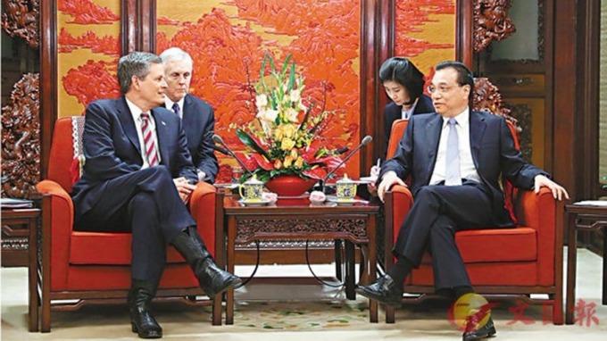李克強晤美議員:中美經濟互補性強 貿易戰解決不了摩擦分歧