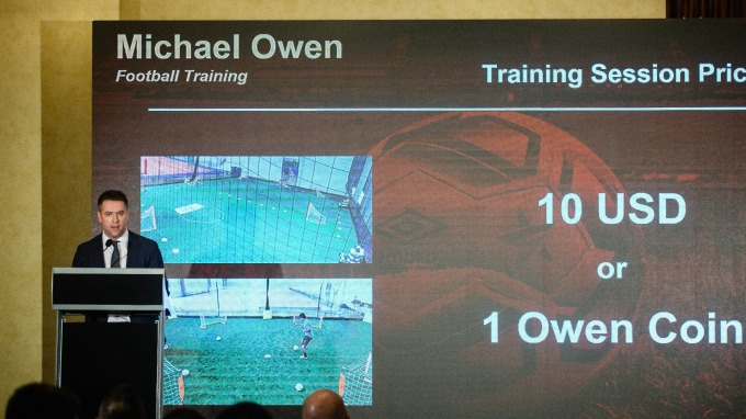 英國足球員 Michael Owen 發行自己的加密貨幣 / 圖:afp