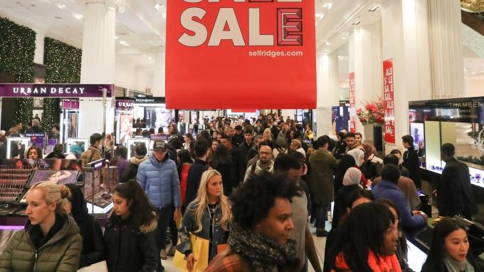 圖:AFP  美國3月零售銷售上升