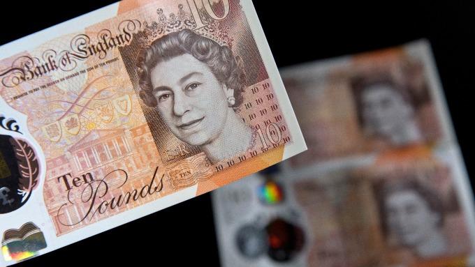 英鎊漲至脫歐後最高水準。(圖:AFP)